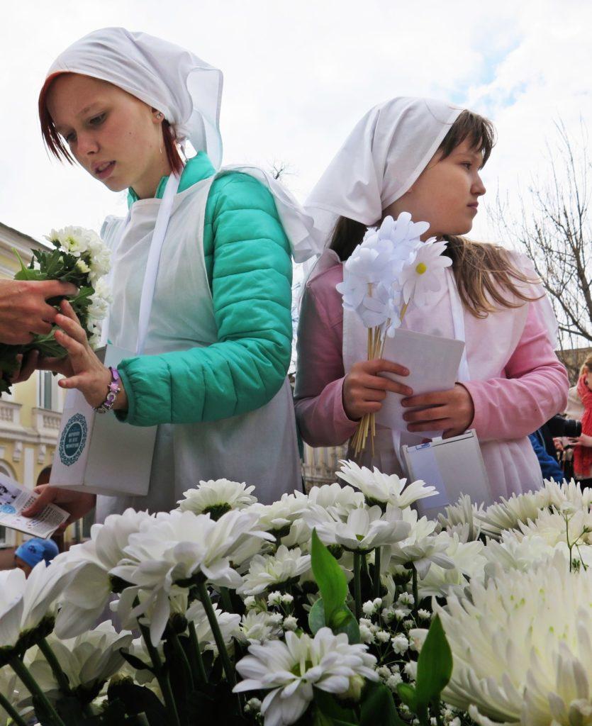 Благотворительная акция Белый Цветок Социальный отдел Астрахань