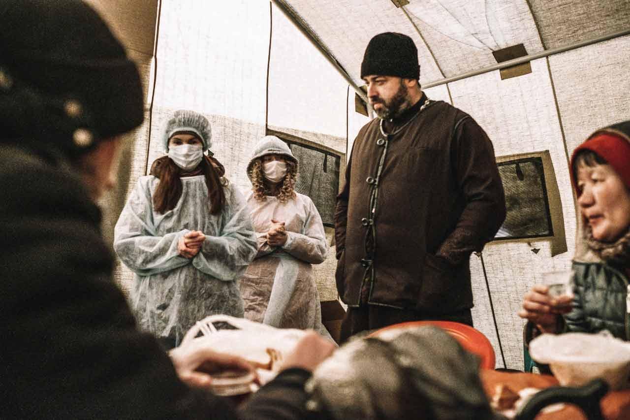 Открытие пункта обогрева для бездомных граждан